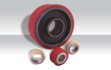 fabrica Colada y moldeado revestimiento de ruedas y rodillos en poliuretano.